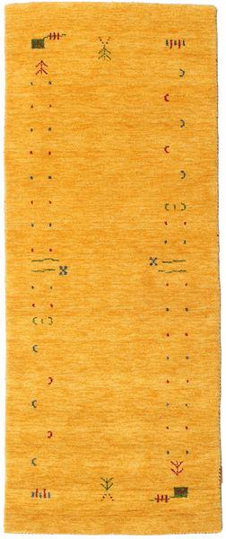 Gabbeh Loom Frame - Jaune Tapis 80X200 Moderne Tapis Couloir Orange (Laine, Inde)