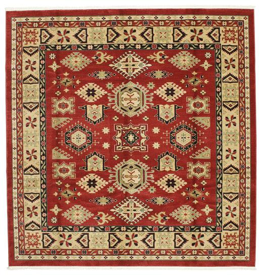 Szyrwan Kazak Dywan 300X300 Nowoczesny Kwadratowy Ciemnoczerwony/Rdzawy/Czerwony Duży ( Turcja)