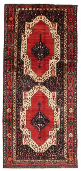 Kurdi Dywan 148X330 Orientalny Tkany Ręcznie Chodnik Ciemnobrązowy/Rdzawy/Czerwony (Wełna, Persja/Iran)