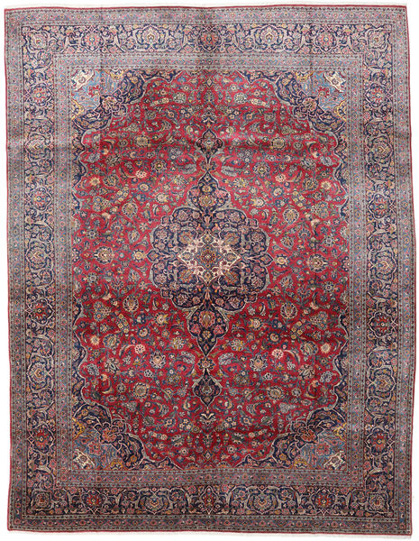 Keshan Rug 290X375 Authentic  Oriental Handknotted Dark Grey/Light Purple Large (Wool, Persia/Iran)