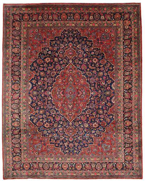 Meszhed Dywan 312X395 Orientalny Tkany Ręcznie Brązowy/Ciemnoniebieski Duży (Wełna, Persja/Iran)