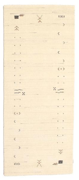 Gabbeh Loom Frame - Off White Rug 80X200 Modern Hallway Runner  Beige (Wool, India)