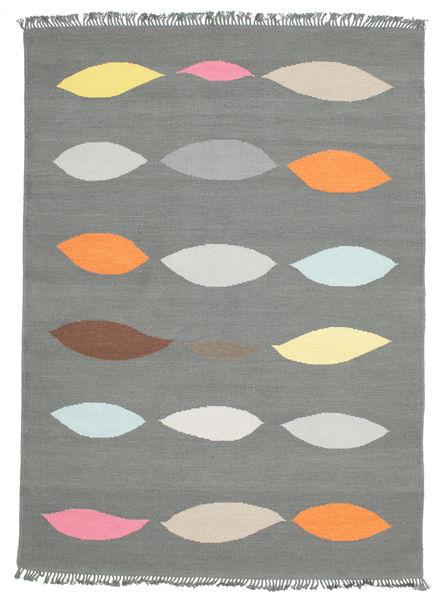 Leaves - Grå Teppe 160X230 Ekte Moderne Håndvevd Lys Grå (Ull, India)