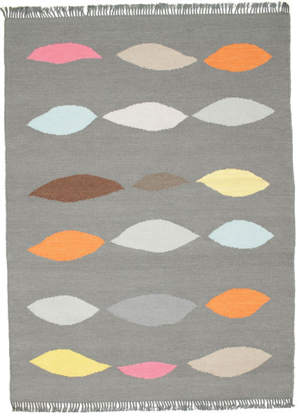 Leaves - Grey Rug 140X200 Authentic  Modern Handwoven Dark Grey/Light Grey (Wool, India)