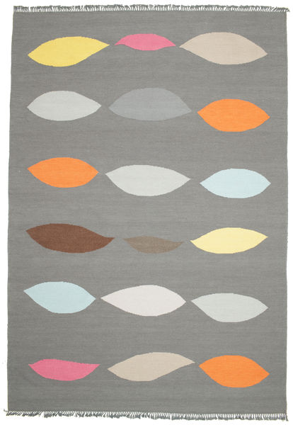 Leaves - Grey Rug 220X320 Authentic  Modern Handwoven Dark Grey/Light Grey (Wool, India)