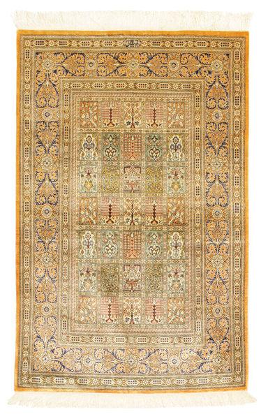 Ghom Soie Tapis 77X120 D'orient Fait Main Marron Clair/Marron (Soie, Perse/Iran)