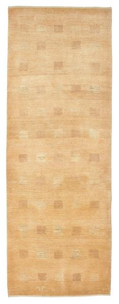 Kashkooli Gabbeh Rug 88X243 Authentic  Modern Handknotted Hallway Runner  Dark Beige/Light Brown (Wool, Persia/Iran)