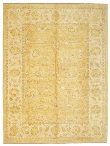 Oushak Rug 295X391 Authentic  Oriental Handknotted Yellow Large (Wool, Turkey)