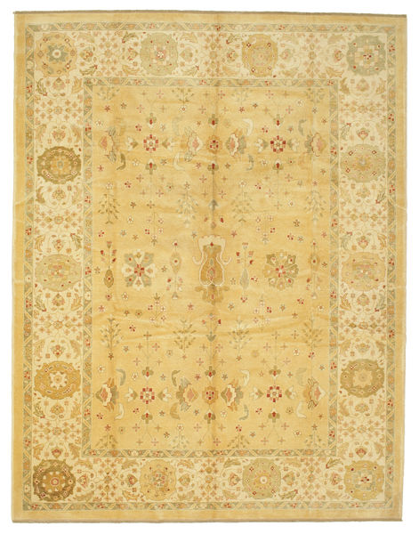 Oushak Rug 281X363 Authentic  Oriental Handknotted Yellow/Light Brown Large (Wool, Turkey)