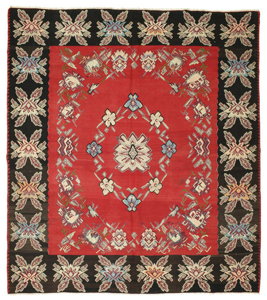 Kilim Semi-Antique Tapis 275X310 D'orient Tissé À La Main Marron Clair/Rouille/Rouge Grand (Laine, Slovénie)