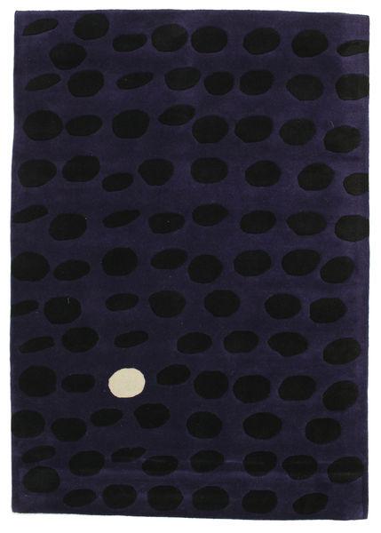 Camouflage Handtufted - Mörk Matta 160X230 Modern Mörklila (Ull, Indien)
