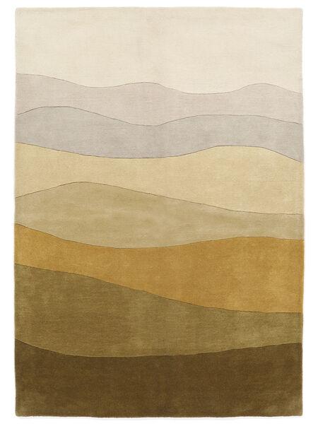 Feeling Handtufted - Marron Tapis 200X300 Moderne Vert Olive/Beige Foncé/Jaune (Laine, Inde)