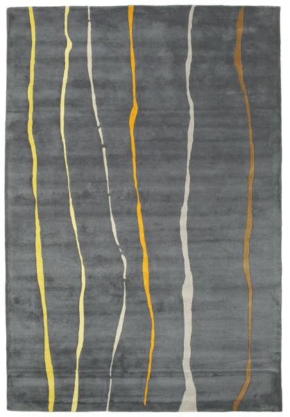 Flaws Handtufted - Grau Teppich  200X300 Moderner Hellgrau/Dunkelgrau (Wolle, Indien)