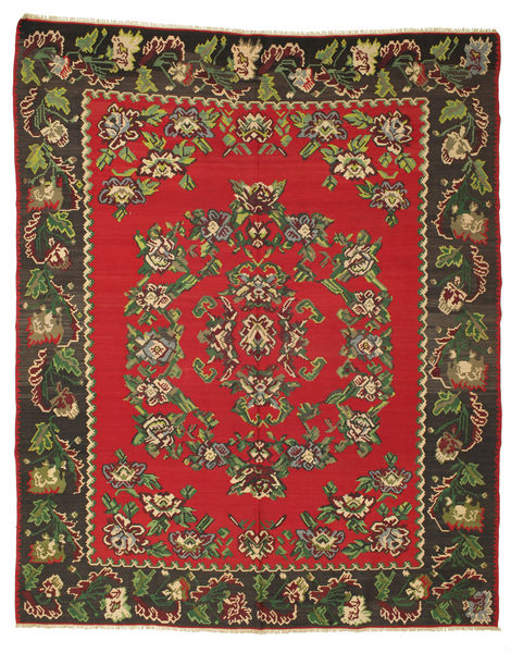 Kilim Semi Antique Rug 267X327 Authentic  Oriental Handwoven Dark Brown/Crimson Red Large (Wool, Slovenia)