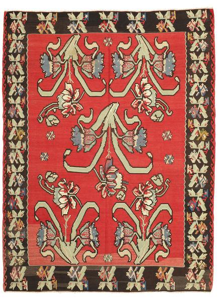 Kelim Halvt Antikke Teppe 225X297 Ekte Orientalsk Håndvevd Mørk Brun/Orange (Ull, Slovenia)