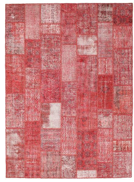 Patchwork Koberec 249X345 Moderní Ručně Tkaný Červenožlutá/Světle Růžová (Vlna, Turecko)