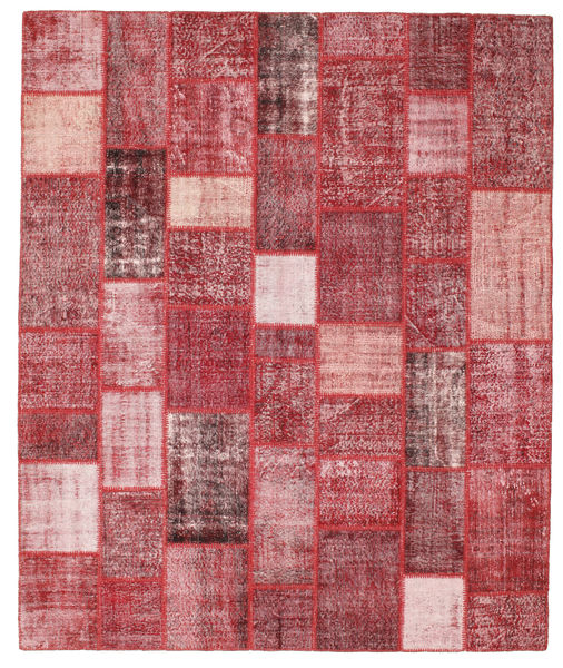Patchwork Rug 252X302 Authentic  Modern Handknotted Purple/Rust Red Large (Wool, Turkey)
