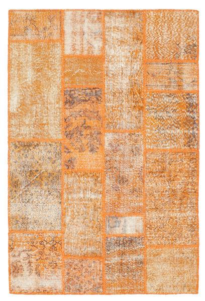 Patchwork Alfombra 141X211 Moderna Hecha A Mano Marrón Claro/Naranja (Lana, Turquía)