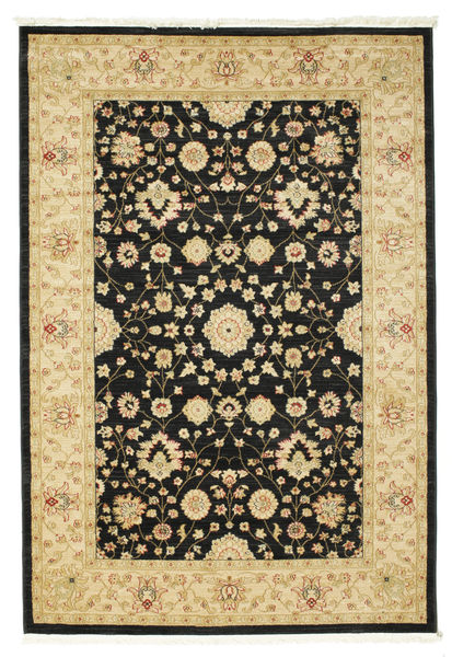 Farahan Ziegler - Black Rug 160X230 Oriental Black/Yellow ( Turkey)