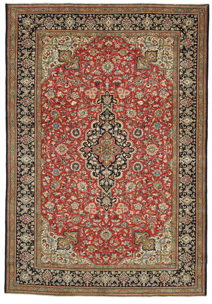 Qum Patina Rug 262X380 Authentic  Oriental Handknotted Brown/Dark Grey Large (Wool, Persia/Iran)