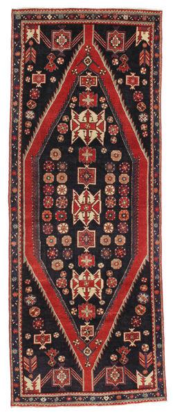 Saveh Patina Matta 113X300 Äkta Orientalisk Handknuten Hallmatta Mörkblå/Brun (Ull, Persien/Iran)