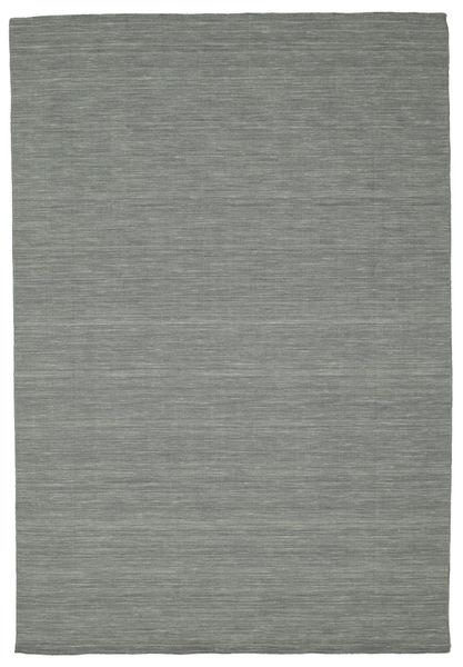 キリム ルーム - 濃いグレー 絨毯 220X320 モダン 手織り 薄い灰色/濃いグレー (ウール, インド)