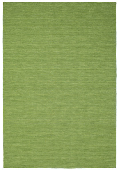 Kilim Loom - Green Rug 220X320 Authentic  Modern Handwoven Olive Green/Light Green (Wool, India)