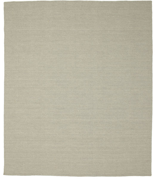 Kilim Loom - Light Grey/Beige Rug 250X300 Authentic  Modern Handwoven Light Grey/Pastel Green Large (Wool, India)