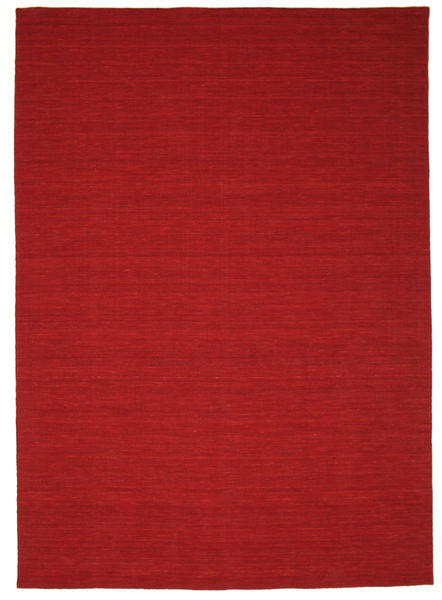Kilim Loom - Dark Red Rug 250X350 Authentic  Modern Handwoven Rust Red/Crimson Red Large (Wool, India)