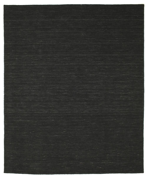Kilim Loom - Black Rug 250X300 Authentic  Modern Handwoven Black Large (Wool, India)