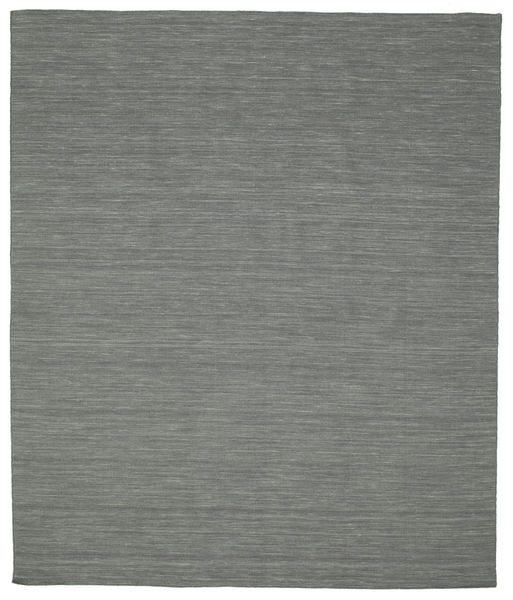 Kilim Loom - Dark Grey Rug 250X300 Authentic  Modern Handwoven Dark Grey/Light Grey Large (Wool, India)
