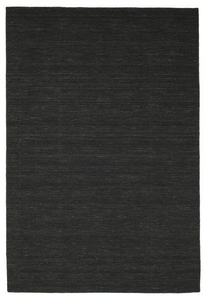 Kilim Loom - Fekete Szőnyeg 200X300 Modern Kézi Szövésű Fekete (Gyapjú, India)