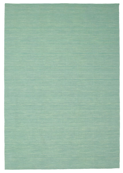 Kilim Loom - Mint Green Rug 220X320 Authentic  Modern Handwoven Pastel Green/Turquoise Blue (Wool, India)