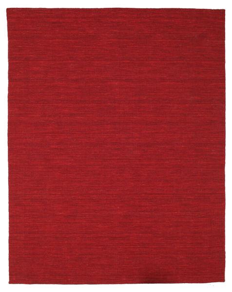 Kilim Loom - Dark Red Rug 200X250 Authentic  Modern Handwoven Crimson Red (Wool, India)