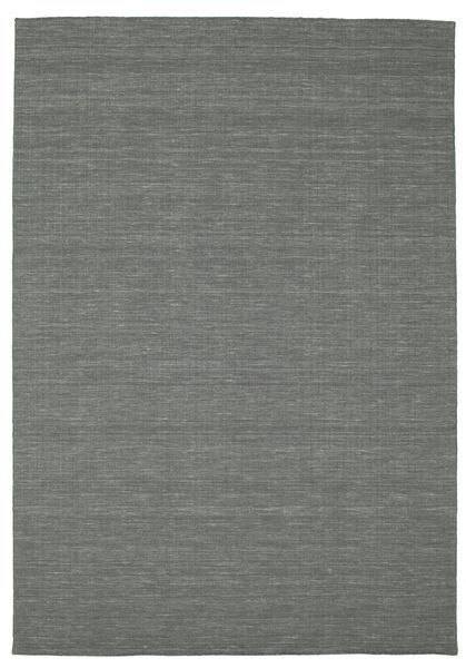 Kilim Loom - Sötétszürke Szőnyeg 200X300 Modern Kézi Szövésű Sötétszürke/Világosszürke (Gyapjú, India)