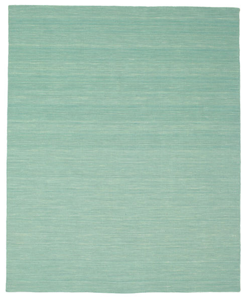 Kilim Loom - Mint Green Rug 200X250 Authentic  Modern Handwoven Pastel Green/Turquoise Blue (Wool, India)