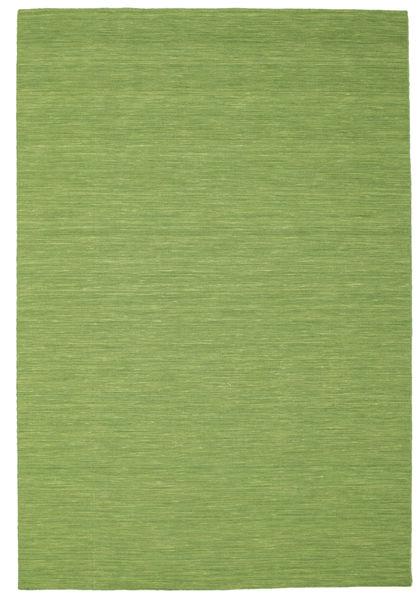 Kilim Loom - Green Rug 200X300 Authentic  Modern Handwoven Olive Green/Light Green (Wool, India)