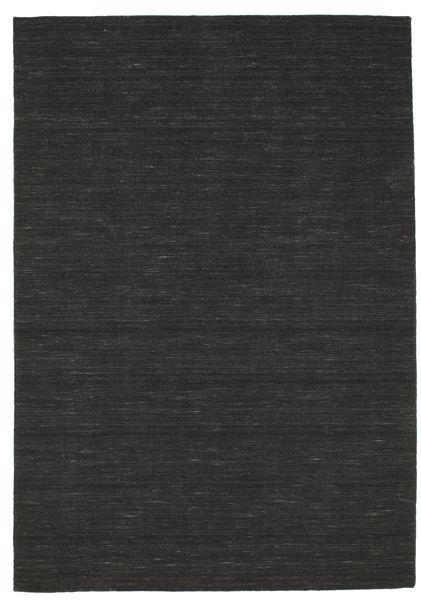 Kilim Loom - Black Rug 160X230 Authentic  Modern Handwoven Black (Wool, India)