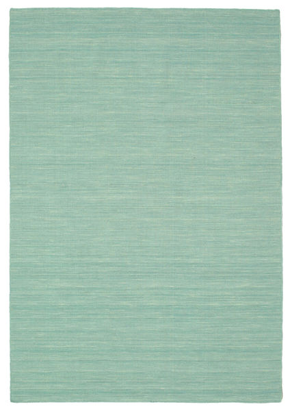 Kilim Loom - Mint Green Rug 160X230 Authentic  Modern Handwoven Pastel Green/Turquoise Blue (Wool, India)
