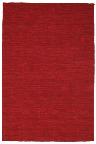 Kilim Loom - Dark Red Rug 160X230 Authentic  Modern Handwoven Crimson Red (Wool, India)