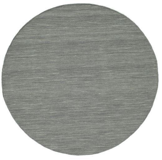 Kilim Loom - Gris Foncé Tapis Ø 150 Moderne Tissé À La Main Rond Gris Clair/Gris Foncé (Laine, Inde)