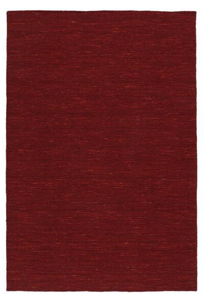 Kilim Loom - Dark Red Rug 120X180 Authentic  Modern Handwoven Crimson Red (Wool, India)