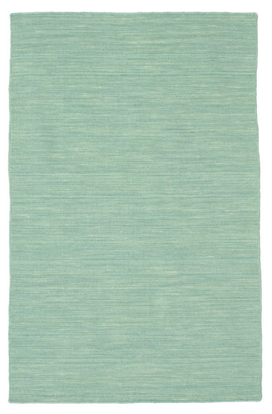 Kilim Loom - Mint Green Rug 100X160 Authentic  Modern Handwoven Pastel Green/Light Grey (Wool, India)