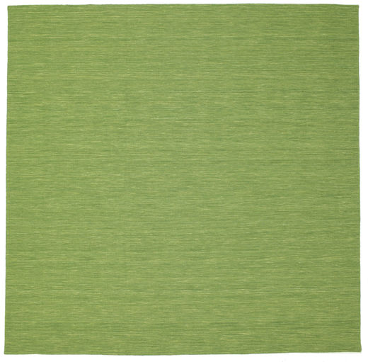 Kilim Loom - Green Rug 300X300 Authentic  Modern Handwoven Square Olive Green/Light Green Large (Wool, India)