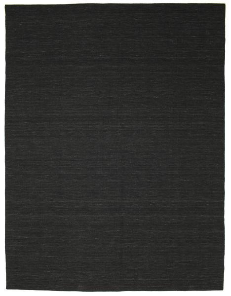 Kilim Loom - Czarny Dywan 300X400 Nowoczesny Tkany Ręcznie Czarny Duży (Wełna, Indie)