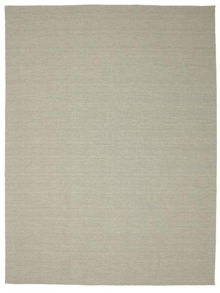 Kilim Loom - Light Grey/Beige Rug 300X400 Authentic  Modern Handwoven Light Grey/Pastel Green Large (Wool, India)