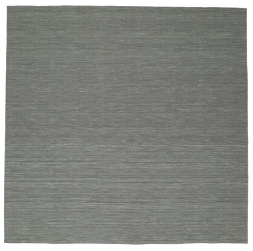 Kilim Loom - Dark Grey Rug 300X300 Authentic  Modern Handwoven Square Dark Green/Light Grey Large (Wool, India)