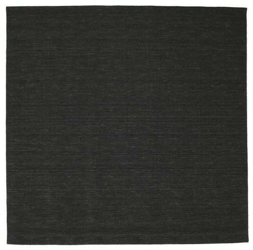 Kilim Loom - Black Rug 300X300 Authentic  Modern Handwoven Square Black Large (Wool, India)
