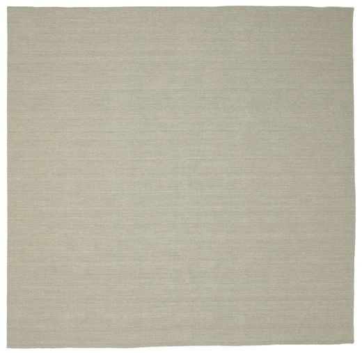 Kilim Loom - Light Grey/Beige Rug 300X300 Authentic  Modern Handwoven Square Pastel Green/Light Grey Large (Wool, India)