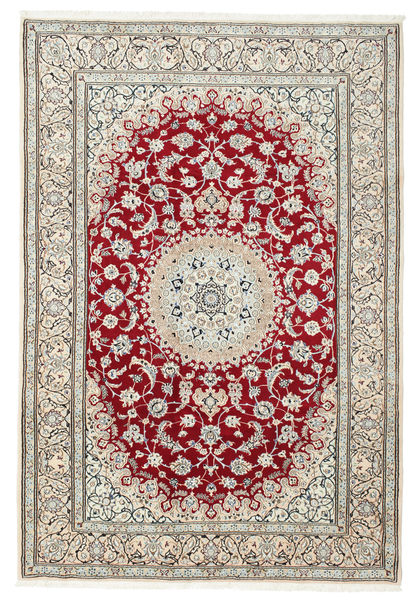 Nain 9La Rug 205X300 Authentic  Oriental Handknotted Beige/Light Grey (Wool/Silk, Persia/Iran)